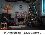 empty christmas room at night... | Shutterstock . vector #1239938959