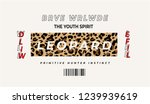 typography slogan on leopard... | Shutterstock .eps vector #1239939619