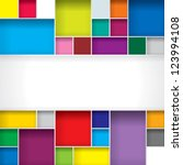 Abstract Color Boxes Backgroun...