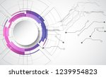 abstract technological... | Shutterstock .eps vector #1239954823