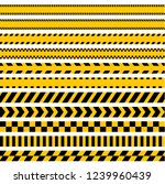 blank caution lines yellow and... | Shutterstock .eps vector #1239960439