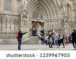 barcelona  catalonia   spain  ... | Shutterstock . vector #1239967903