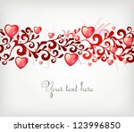 seamless vector ornament with... | Shutterstock .eps vector #123996850