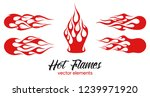 red fire  old school flame... | Shutterstock .eps vector #1239971920