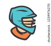 lacrosse player sign | Shutterstock . vector #1239976270