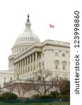 Stock photo us capitol building with white background 123998860