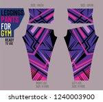 leggings pants for gym | Shutterstock .eps vector #1240003900
