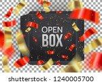 black empty open box with... | Shutterstock .eps vector #1240005700