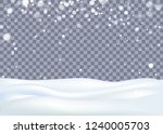 snowy landscape with falling... | Shutterstock .eps vector #1240005703