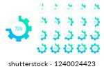 set of circle percentage... | Shutterstock .eps vector #1240024423