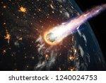 a comet  an asteroid  a... | Shutterstock . vector #1240024753