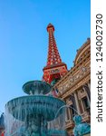 Stock photo eiffel tower on strip las vegas 124002730