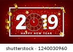 new year typographical creative ... | Shutterstock .eps vector #1240030960