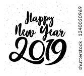 happy typographical 2019 new... | Shutterstock .eps vector #1240030969