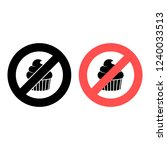 steak ban  prohibition icon....