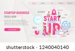 white landing page template of... | Shutterstock .eps vector #1240040140