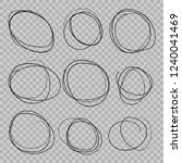 doodle sketched circles. hand... | Shutterstock .eps vector #1240041469