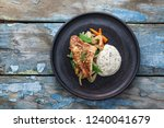 Pan fried ocean perch with...