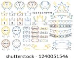simple icon for ranking   metal ... | Shutterstock .eps vector #1240051546