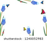 muscari flowers with... | Shutterstock .eps vector #1240052983