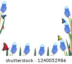 muscari flowers with... | Shutterstock .eps vector #1240052986
