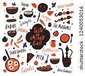 taste of middle east. funny... | Shutterstock .eps vector #1240053016