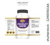 bottle label  package template... | Shutterstock .eps vector #1240056166