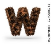 uppercase fluffy and furry font ... | Shutterstock . vector #1240056766