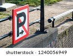 waterway sign  no mooring or...   Shutterstock . vector #1240056949