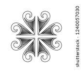 polynesian tattoo pattern... | Shutterstock .eps vector #1240057030