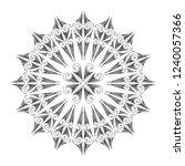 polynesian tattoo pattern... | Shutterstock .eps vector #1240057366