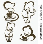 cooking symbols  food and chief ... | Shutterstock .eps vector #124006153