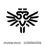 two head eagle for majestic | Shutterstock .eps vector #1240064206