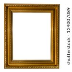 gold picture frame isolated on... | Shutterstock . vector #124007089