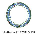 muscari flowers butterflies... | Shutterstock .eps vector #1240079440
