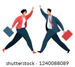 businessmen or office workers... | Shutterstock .eps vector #1240088089