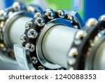 Small photo of Bearings. Bearing section. Manufacture of machinery. Details for mechanisms. Repairs. Ball bearings.