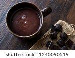 homemade spicy hot chocolate in ... | Shutterstock . vector #1240090519