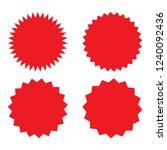 set of red retro blank...   Shutterstock .eps vector #1240092436
