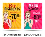 sale posters with discount and... | Shutterstock .eps vector #1240094266