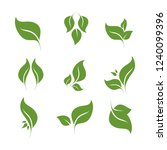leaves icon vector set isolated ... | Shutterstock .eps vector #1240099396