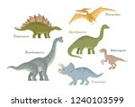 collection of cute flat... | Shutterstock .eps vector #1240103599