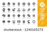 vector artificial intelligence... | Shutterstock .eps vector #1240105273