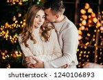 loving couple near the... | Shutterstock . vector #1240106893