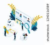 isometric business concept ... | Shutterstock .eps vector #1240116589
