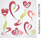 vector collection of love... | Shutterstock .eps vector #124011730