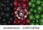 flag of afghanistan on top of... | Shutterstock . vector #1240118266