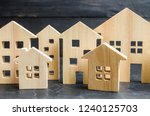 wooden city and houses. concept ... | Shutterstock . vector #1240125703