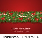 christmas and happy new year... | Shutterstock .eps vector #1240126216