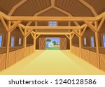 a barn for farm animals  view... | Shutterstock .eps vector #1240128586